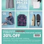 20% off Women's, Men's, and Kid's Clothing, Footwear, Sleepwear, Accessories and Homewares @ Target