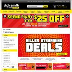 Spend $149+ & Get $25 off @ Dick Smith