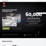 NAB Credit Card; 60,000 QFF Points - $250 Annual Fee, $1500 Spend - Qantas Rewards Premium Card