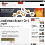 FREE: Avast Internet Security 2016 (12 Month License) Normally $50
