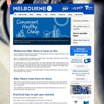 Free Access to Melbourne Bike Share 19 to 26 December