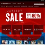 PlayStation Store January Sale - Save up to 60%