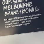 Bonus $50 EFTPOS Gift Card When You Open a Transaction Account @ Bank of Melbourne (South Melbourne, VIC)