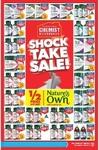 Chemist Warehouse - 1/2 Price RRP Nature's Own/Cenovis/Bio Organics + Selected Swisse/Blackmores/Bioglan 40% off Trilogy/Akin