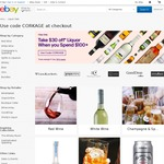 eBay $30 off $100 on Alcohol Sitewide