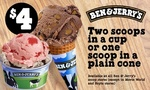 2 Scoops of Ben and Jerry's Ice Cream in a Cup $4 @ Groupon