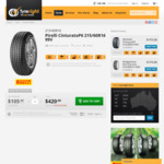 Set of 4 Pirelli Cinturato P6 215/60R16 99V $420 at Tyreright - $400 Pricebeat KTAS Fitted and Balanced