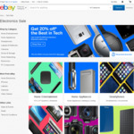20% off 61 Selected Tech Retailers @ eBay