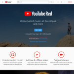 YouTube Red Free Membership for 3 Months