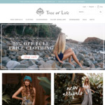 25% off Full Price Clothing at TREE OF LIFE