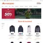 Down Jackets and Vests 50% off @ Macpac