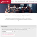 No Monthly Fee until 25th Jan 2018 for New Sign Ups at Fitness First