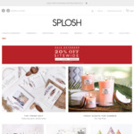 20% off Sitewide @ Splosh.com.au (Sale Items Excluded from Further Discount but Some of Those Also up to 70% off)