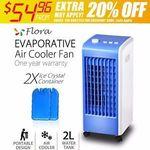Flora Evaporative Air Cooler Fan $54.96 Delivered @ Flora Livings eBay