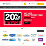 20% off Sitewide @ ABC Shop