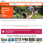 Bali - Kids (0-11 Years) Fly and Stay Free with Full Paying Adult @ Jetstar