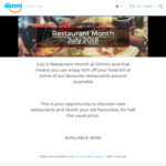 [SYD/MEL/BNE/PER/ADL] 50% off Food Bill at Participating Restaurants during July when Booked through Dimmi