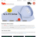 Business Shirts Seniors Discount 10% off @ Business Shirts Plus