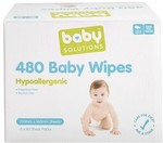 Baby Solutions 480 Baby Wipes $7.50 @ Kmart