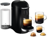 Nespresso by Breville VertuoPlus Deluxe Capsule Coffee Machine BNV420BLK $199 ($119 after $80 Cashback) @ Myer & Harvey Norman