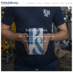 $10 off First Order Sitewide @ Pablo and Rusty's