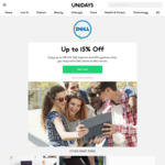 Dell - 15% Discount for Students on Dell Inspiron and XPS Systems @ UNiDAYS