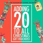 Bared Footwear - Adding 20% to All Christmas Vouchers