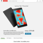 Lenovo Tab 7 $75 (Free Shipping) @ Lenovo