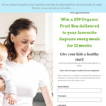 Win $700 Worth of Organic Fruit for a Child Care or Day Care from Doorstep Organics
