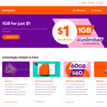 $1 for 1GB Unlimited Talk & Text 28-Day SIM @ amaysim (New Customers)