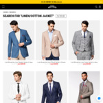 Linen/Cotton Suit Jackets $49.99 Each Multiple Colour/Style/Size Ava @ Hallenstein Brothers (Free Shipping if Spend NZ $50+)