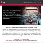 Win an LG Home Entertainment Package Worth $5,044 from LG