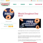 Free Original Glazed Doughnut on World Doughnut Day @ Krispy Kreme (Friday June 7)