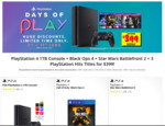 PlayStation 4 1TB Console + Black Ops 4 + Star Wars Battlefront 2 + 3 PlayStation Hits Titles for $399 @ JB Hifi