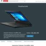 """ThinkPad E490 / 14"""" FHD / i7-8565U / 512GB SSD / 8GB RAM / RX550X GPU / Backlit / Fingerprint / $1199 Shipped @ Lenovo"""