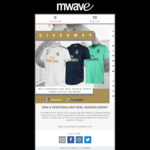 Win 1 of 3 Personalised Real Madrid Jerseys from Mwave