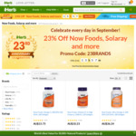 23% off Now Foods, Soloray and More @ iHerb