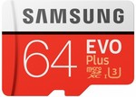 Samsung EVO Plus 64GB Micro SDXC Memory Card with SD Adapter $14 @ Harvey Norman