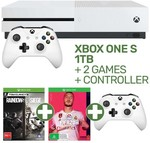Xbox One S 1TB, 2 Controllers, Rainbow 6 Siege, FIFA20, Gears of War 4 Digital $349 @ EB Games