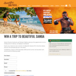 Win a Trip to Samoa for 2 from Samoa Tourism Authority