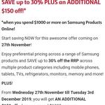 Additional $150 off Samsung Products (Minimum Spend $1000) @ Samsung EPP