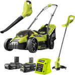 Ryobi 18v One+ Lawn Mower Garden Combo $299 @ Bunnings (Limited Stock)