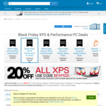 Dell 20% off All XPS e.g. XPS 13 from $1839.20 Delivered @ Dell