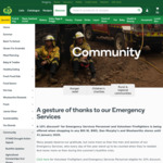 [BF] 10% off for All Volunteer Firefighters and Emergency Services Personnel @ Woolworths, BIG W, BWS & Dan Murphy's