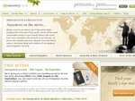 Free Access to Immigration & Emigration Records from Ancestry.co.uk for 1 Week