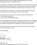 Free 12 Month Status Extension for Virgin Australia Velocity Platinum/Gold/Silver Members