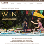 Win 1 of 5 Easter Bilby Packages Worth $65 from Haigh's