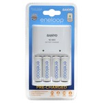 Sanyo Eneloop Charger inc. 8x AA Batteries + GE Wireless Alarm Thermometer $36.95+Free Postage