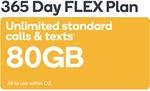 Kogan Mobile Prepaid Voucher Code: SMALL (365 Days FLEX | 80GB) $150
