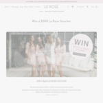 Win a $500 Voucher from Le Rose